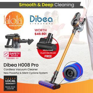 ✔FREE DELIVERY:  Dibea H008 PRO series DUO Cyclone Cordless 8 in 1 cordless Stick Vacuum Cleaner★ Good for Pets car baby New HDB BTO Condo
