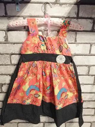 Baby Girl Dress Sleeveless 💕 #gayaraya