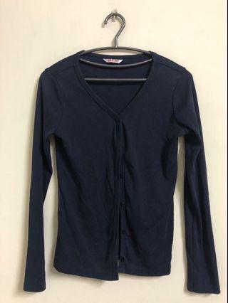 🚚 藍色 針織 小外套