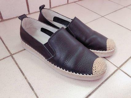 🚚 正韓真皮編織漁夫鞋