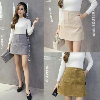 🚚 A-line High Waist Skirt