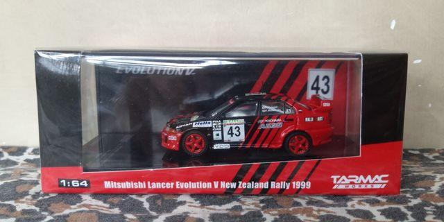 1:64 Tarmac Works Mitsubishi Lancer Evolution V New Zealand Rally 1999
