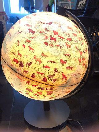 World Map Globe Earth table desk light