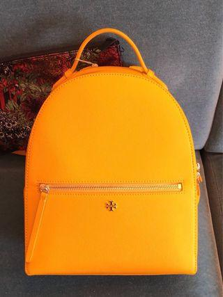TORY BURCH EMERSON CASSIA LEATHER BACKPACK