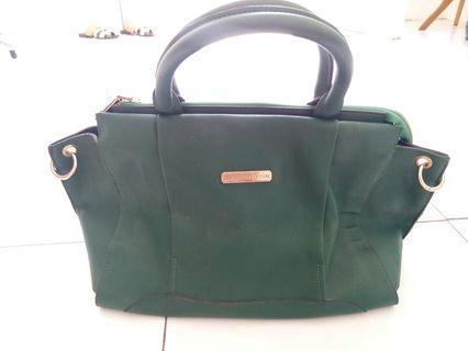 Hand Bag hijau botol