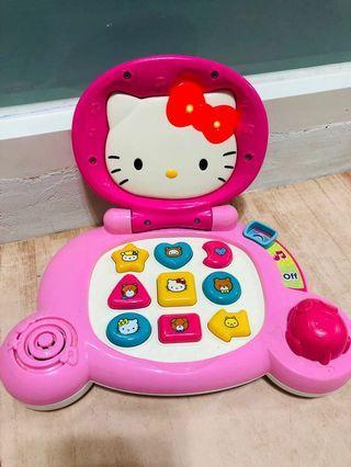 Hello kitty laptop 兒童電腦-形狀認知(二手)玩具機
