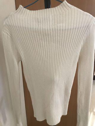 🚚 白色針織緊身上衣
