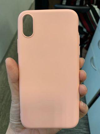 🚚 iPhone XS macaron candy colour pink