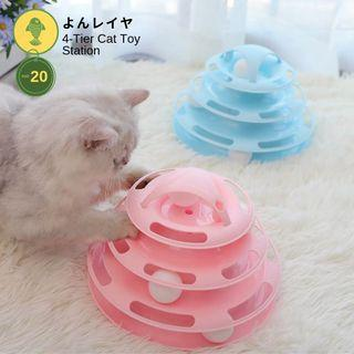 4-tier Cat Toy Station