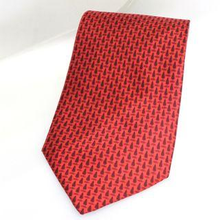 "Dunhill ""Christmas Tree"" Pattern Red Tie (Wide)"