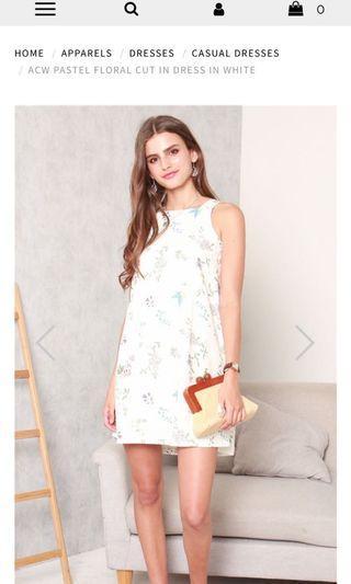 acw floral cut in dress