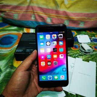 Iphone 7 plus jet black 128gb eks ibox