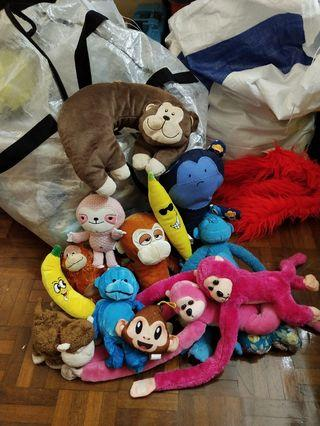 Soft Toys Set Monkey