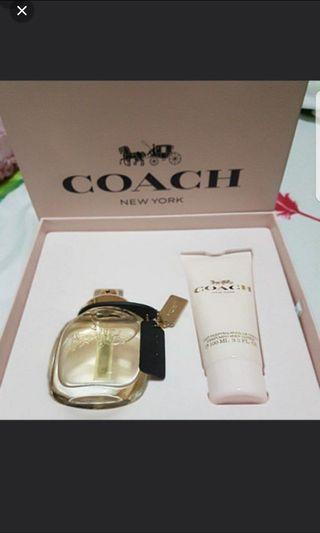 brand new in box coach perfume and body lotion