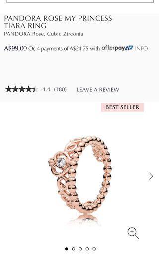 Pandora Rose tiara ring