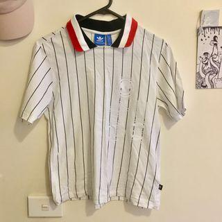 Striped Adidas polo shirt