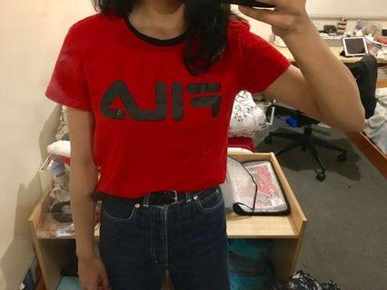 Red fila T-shirt
