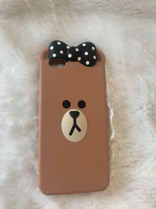 Case iPhone6+ Line Brown
