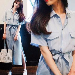 Brand New Button Down Light Blue Nursing Breastfeeding Pimping Dress
