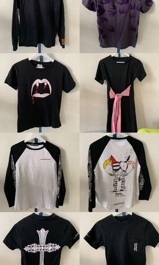T-shirt dress chrome hearts YSL McQUEEN