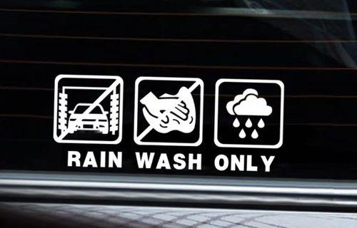 創意汽車玻璃貼紙_只限雨洗