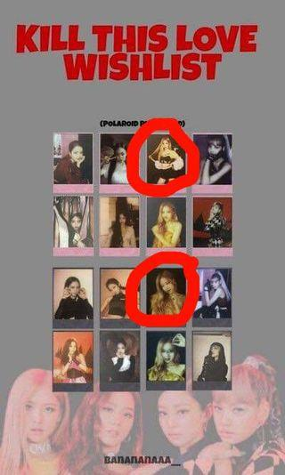WTB Rosé Kill this Love Polaroid black and pink in the photo