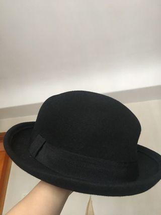 黑色小圓帽 全新 百搭