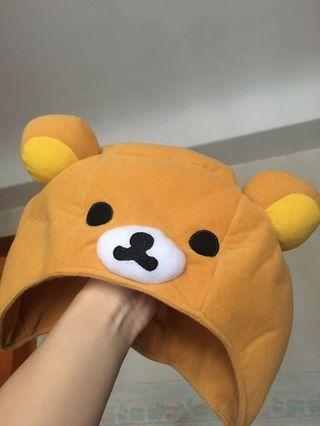 可愛鬆弛熊帽 適合小朋友大人佩戴 全新