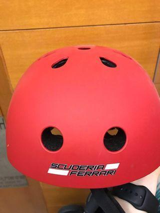 法拉利兒童頭盔 Ferrari Helmet 平衡車 滑板車 單車適用