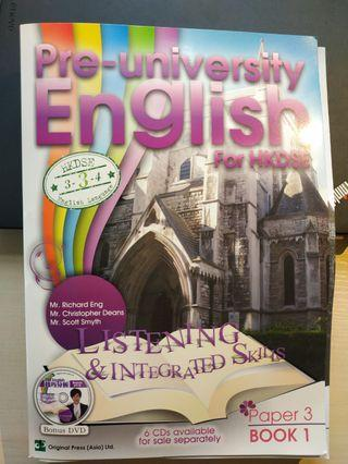 ‼️限時減價‼️Pre-University English For HKDSE [Listening and Integrated Skills Paper 3, Book 1]