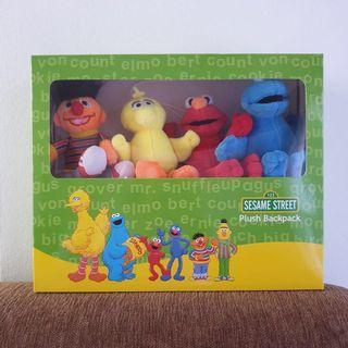 Retail $49.90! Sesame Street Plush Backpack / Musical Cot Mobile