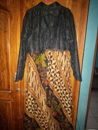Dress Batik dan brukat