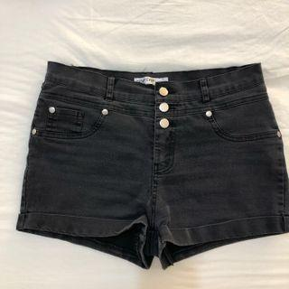 washed out black shorts