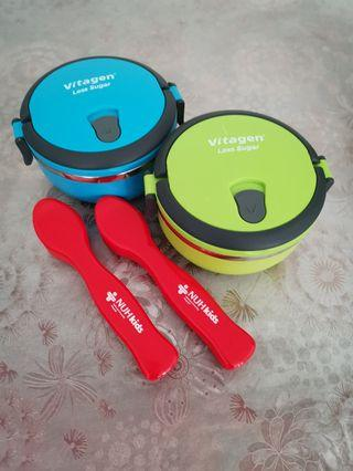Lunch Box & Cultery Set