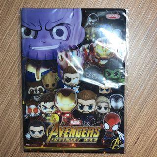 Avengers A5 File (Ironman, Captain America, Thor, Spiderman, Thanos)