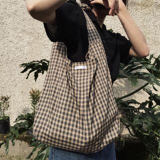 Brown tartan bag (tali bisa diatur jd slingbag/totebag)