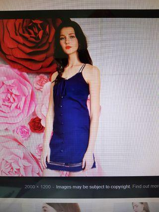 TRADE / SELL Brand new tag Purpur Paislee Sweetheart Dress Blue