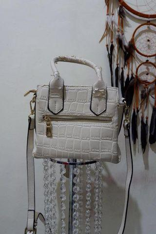 White bag leather