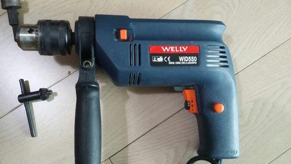 Welly IMPACT Drill Set,  550W, 13MM, VSR, 0-2800RPM