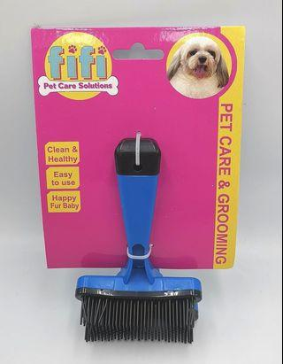 pet brush with fur remover