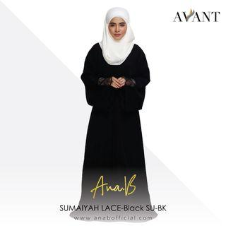 ANA B / SUMAIYAH LACE / Black / Free Size / Korean Koshibo & French Lace