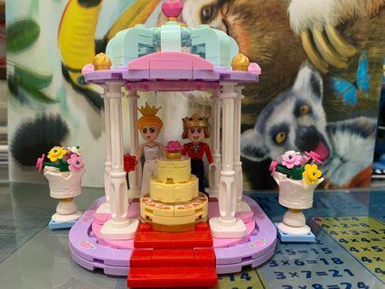星堡王子公主婚禮涼亭(兼容Lego )