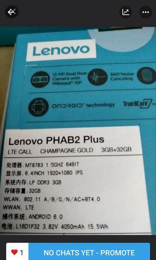 Brand New Lenovo Phab 2 plus Dual sim for sale