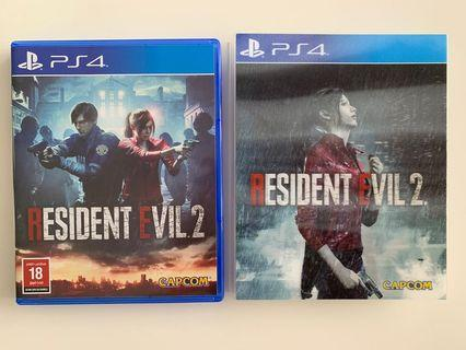 🚚 Resident evil 2 special laser cover PS4 Games almost new