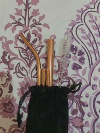 STAINLESS STEEL STRAW ROSE GOLD [repricee]