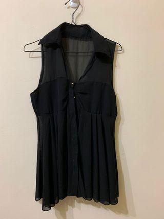🚚 雪紡短版洋裝