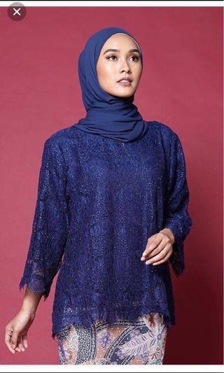 #GayaRaya Lace top & batik skirt