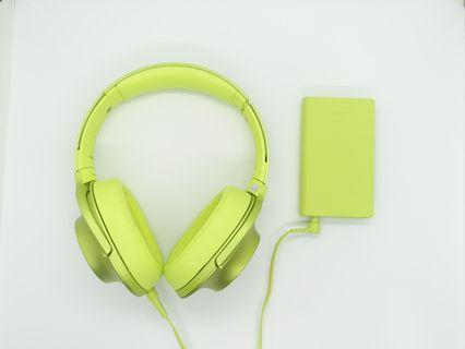 Sony NW-A35 High Resolution Audio Walkman+Sony MDR-100AAP High Resolution Overhead Headphones