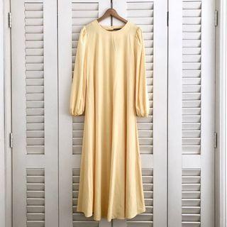 Jubah Dress in Magnolia Yellow #Carouraya #GayaRaya