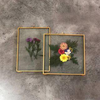 Pressed dried flowers frame